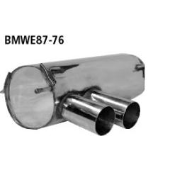 Escape deportivo final doble 2x76 mm sin faldon trasero de serie m BMW Serie 1 E81 116i -02/2007 Bastuck