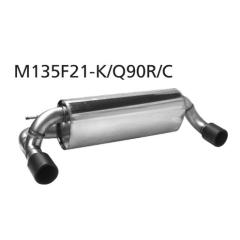 Escape deportivo final con tubo de escape simple, 1x 90 mm LH, carbono, con valvula de escape BMW Serie 1 F21 1.6l Turbo (incluido M135i / M140i) Bastuck