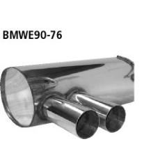 Escape deportivo final doble 2x76 mm BMW Serie 3 E91 316d Estate Bastuck