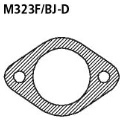 Junta de brida (necesario 2x) Mazda 323 F Bastuck