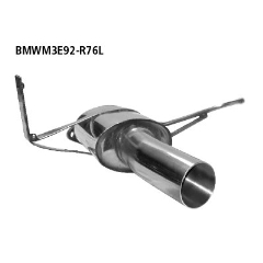 Sport escape deportivo final simple 1x76 mm izq. BMW Serie 3 M3 E92 Coupe Bastuck