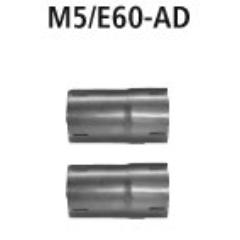 Juego de Tubo adaptadores montar el Supresor de Catalizador M6/E63-1P y el silenciador delantero M6/E63-2P BMW M5 Saloon (E60) + Estate (E61) Bastuck