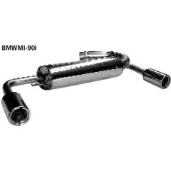 Escape deportivo final transversal con 2 tubos de salida 90 mm (salida lateral) BMW Mini R50 (2001-) Bastuck