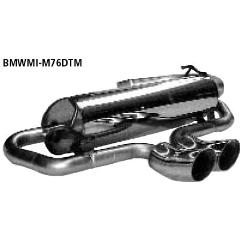 Escape deportivo final transversal con 2 tubos de salida dtm 76 mm (salida central) BMW Mini R50 (2001-) Bastuck