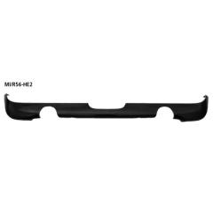 Difusor spoiler parachoques trasero con cortado -out izq.+dcha. tubo doble de salida side salida, pintable y evita cortar el faldon trasero original BMW Mini R56 Cooper Bastuck