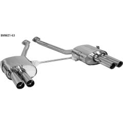 2 silenciadores traseros doble 2x63 mm BMW Z1 Bastuck