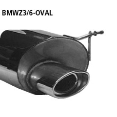 Escape deportivo final con tubo ovalado simple de salida 153x95 mm BMW Z3 Coupe 2.2l + 3.0l Bastuck