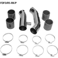Powerkit de tubos incluido tubos azules de conexion y Kit abrazaderas de acero inoxidable pipe kit con pop off conexion de valvula 25 mm Ford Focus 1 RS ( 2002-2004) Bastuck