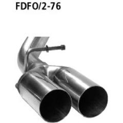 Tubo doble de salida 2x76 mm Ford C-Max (2003-) Diesel con filtro de particulas Bastuck