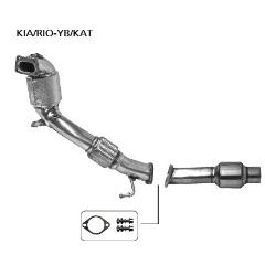Kit de catalizador de rendimiento de con homologacion ece compuesto por catalizador principal y secundario y kit de fijacion kiace/t-fk sin filtro de particula Kia Rio YB a 2017- i