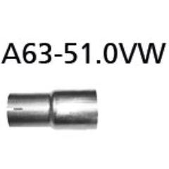 Tubo adaptador sistema completo a serie a 50.5 mm Kia Stonic 2017- Bastuck