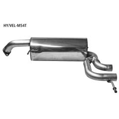 Escape deportivo final con dos salidas de tubos central 2x54 mm el faldon original Hyundai Veloster 1.6l Bastuck