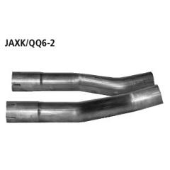 Tubo de conexion izq. + dcha. al escape final Jaguar XKR Typ QQ6 Cabrio 2006- Bastuck