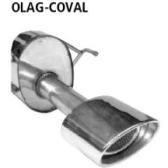 Escape deportivo final con tubo ovalado simple de salida 153x95 mm Opel Astra G Cabrio Bastuck