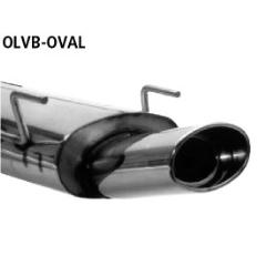 Escape deportivo final con tubo ovalado simple de salida 153x95 mm Opel Vectra B + Estate with EU approval Bastuck