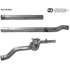 Group n ? sistema de escape deportivo , con tubo de conexion delantero, tubo de conexion central y unidad de silenciadior deportivo / catalizador deportivo Renault Clio 3 RS inclui