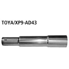 Tubo de conexion al catalizador (solo 70 cv ) Toyota Yaris II Typ XP9 (2006-) incluido TS Bastuck