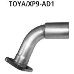 Tubo de conexion escape deportivo final al sistema de serie Toyota Yaris II Typ XP9 (2006-) incluido TS Bastuck
