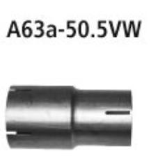 Tubo adaptador sistema completo al catalizador a 50.5 mm Skoda Fabia II RS Typ 5J Bastuck