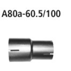 Tubo adaptador catalizador de rendimiento o Supresor de Catalizador y tubo de conexion del sistema de serie a 60.5 mm BMW Serie 2 F22 Coupe 2.0l Turbo Bastuck