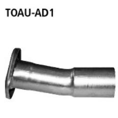 Tubo adaptador sistema completo con brida Toyota Verso 3 2009- Bastuck