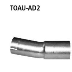 Tubo adaptador sistema completo sin brida Toyota Avensis T27 2009- Bastuck