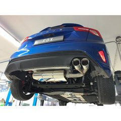 Escape final deportivo Ford Focus mk4 IV 1.5 111/134kW 150CV/182CV 2x90 suspension eje Fox