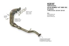 Kit Colectores de Escape para ALFA ROMEO 147 1.6I 16V 120CV 09/0