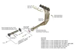 Kit Colectores de Escape para ROVER 416I 1.6I 16V GTI 130CV 90-9