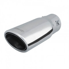 Cola de tubo de escape deportiva Simoni Racing Ovalada / Tilt Acero inoxidable - 88x66xL