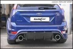 Escape Deportivo 1X120 MEGA der+izq FORD FOCUS 2.5T RS (305CV) 2009-D 60 - Homologado Inoxcar
