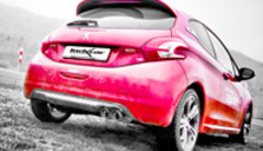 Escape Deportivo 2X80 RACING PEUGEOT 208 1.6 16V Turbo GTI (200CV) 2013- Inoxcar