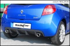 Escape Deportivo 1X80 der+izq RENAULT CLIO 3 RS 2.0 16V (197CV) / RS GORDINI 2006-2009 - Homologado Inoxcar