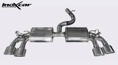Escape Deportivo 2X120X80 der+izq valves VOLKSWAGEN GOLF 7 2.0 R TSI (300CV) 2014- Inoxcar