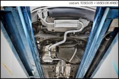 Escape Deportivo 2X80 X-RACE VOLKSWAGEN SCIROCCO 2.0 TDi (170CV) 2008- Homologado Inoxcar