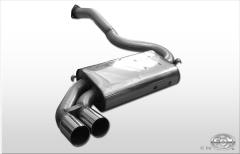 Escape final Audi Urquattro system Diametro 63,5 mm 2x76 Tipo 10 Fox