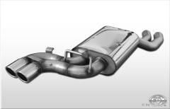 Escape final Audi V8 Type D11 single system 2x70 Tipo 16 Fox