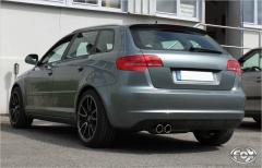 Escape final Audi A3/ S3 8P (from 03) Sportback Quattro 3,2l 2x90 Tipo 17 Fox
