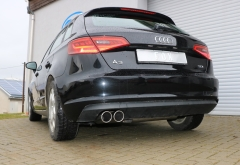 Escape final Audi A3/ S3 8V from 2012 Sportback 1,4l 8V Sportback final silencer 2x90 Tipo 16 Fox