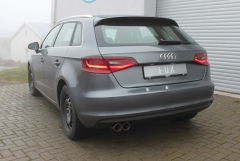 Escape final Audi A3/ S3 8V from 2012 Sportback 1,4l 8V Sportback final silencer 2x80 Tipo 25 Fox