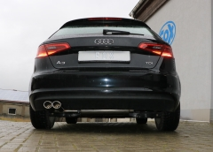 Escape final Audi A3/ S3 8V from 2012 Sportback 1,4l 8V Sportback final silencer 2x88x74 Tipo 32 Fox
