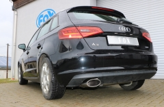 Escape final Audi A3/ S3 8V from 2012 Sportback 1,4l 8V Sportback final silencer 160x90 Tipo 38 Fox