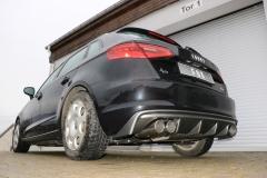 Escape final Audi A3/ S3 8V from 2012 Sportback 1,4l 8V Sportback final silencer exit doble duplex derecho / izquierdo 2x90 Tipo 16 doble duplex derecho / izquierdo Fox