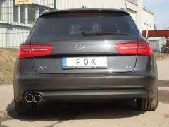 Escape final Audi A6/ S6/ RS6 4G 2,0l TDI 2,0l TDI final silencer 2x90 Tipo 16 Fox
