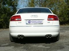 Escape final Audi A8/ S8 4E 3,7l 4,2l 2x80 Tipo 17 doble duplex derecho / izquierdo Fox