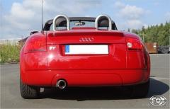 Escape final Audi TT 8N (yoc 98-06) 2 wheels drive Frontantrieb final silencer 1x100 Tipo 13 Fox