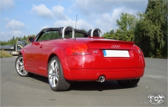 Escape final Audi TT 8N (yoc 98-06) 2 wheels drive Frontantrieb final silencer 1x100 Tipo 17 Fox