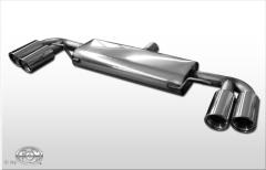 Escape final Audi TT 8J (from 2006) 1,8l + 2,0l TFSI Turbo final silencer doble duplex derecho / izquierdo 2x100 Tipo 17 doble duplex derecho / izquierdo Fox