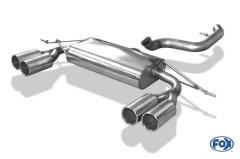 Escape final Audi Q3 diesel left/right system 2x90 Tipo 12 doble duplex derecho / izquierdo Fox