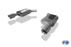 Escape final Audi A7 3,0l TFSI 3,0l TFSI final silencer doble duplex derecho / izquierdo 1x100 Tipo 25 doble duplex derecho / izquierdo Fox